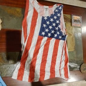 Carbon Tank Top American Flag Edition